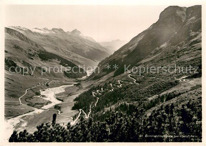 AK / Ansichtskarte Hinterrhein St Bernardinostrasse Alpenpass Kat. Hinterrhein