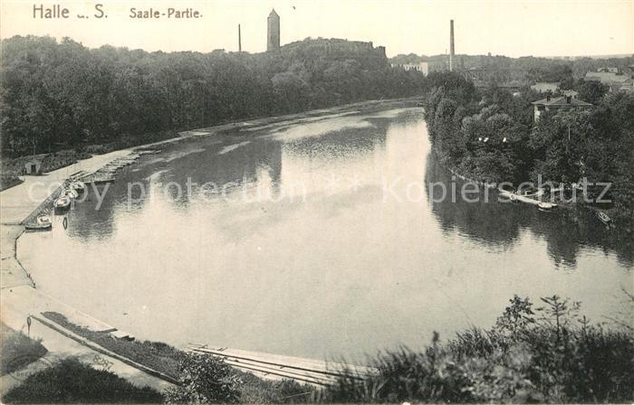 AK / Ansichtskarte Halle Saale Saale Partie Kat. Halle