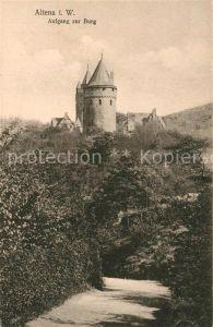 AK / Ansichtskarte Altena Lenne Aufgang zur Burg Kat. Altena