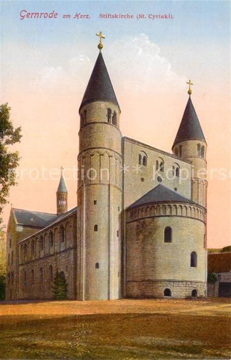 AK / Ansichtskarte Gernrode Harz Stiftskirche Cyriaki Kat. Gernrode Harz