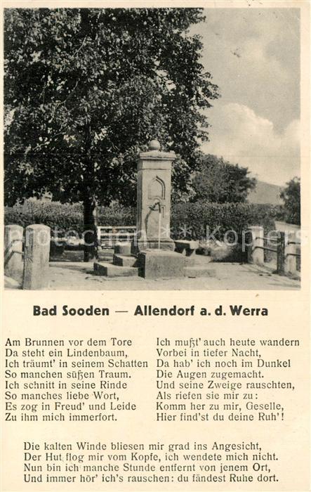AK / Ansichtskarte Allendorf Bad Sooden Zimmersbrunnen Kat. Bad Soden am Taunus