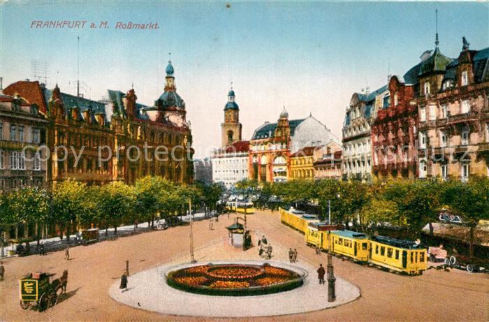 AK / Ansichtskarte Frankfurt Main Rossmarkt Kat. Frankfurt am Main