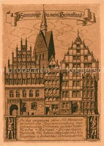 AK / Ansichtskarte Alt Hannover Kirche Rathaus Buergerhaus  Kat. Hannover