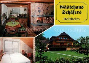 AK / Ansichtskarte Holtheim Gaestehaus Schaefers Kat. Lichtenau