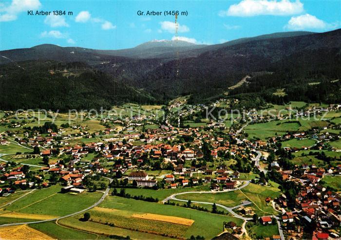 AK / Ansichtskarte Bodenmais Fliegeraufnahme mit Gr und Kl Arber Kat. Bodenmais
