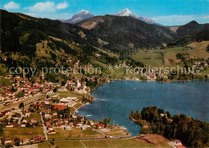 AK / Ansichtskarte Schliersee Fliegeraufnahme mit Wendelstein Kat. Schliersee