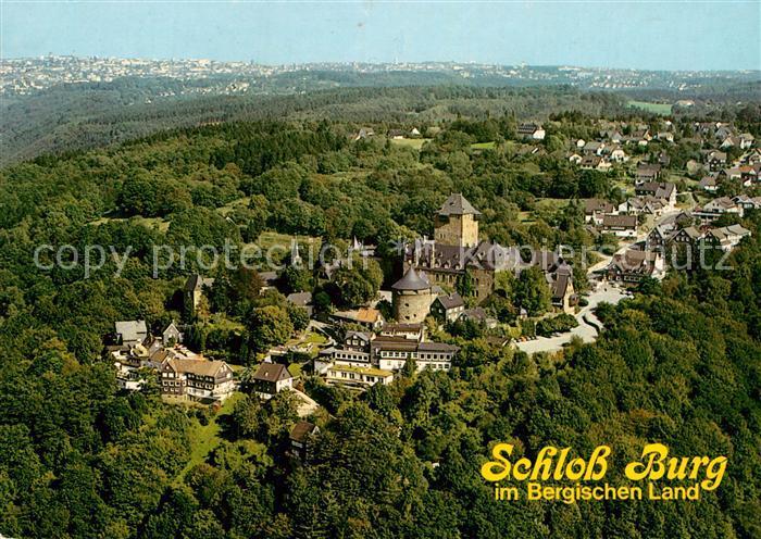 AK / Ansichtskarte Burg Wupper Fliegeraufnahme mit Schloss Burg Kat. Solingen