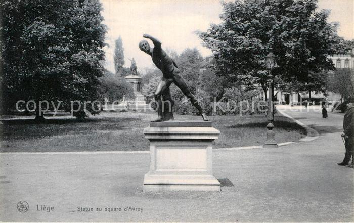 AK / Ansichtskarte Liege Luettich Statue au square d Avroy Kat. Luettich