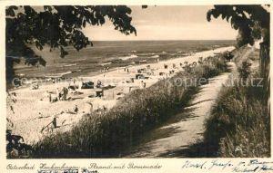 AK / Ansichtskarte Henkenhagen Pommern Strand Promenade Teilansicht  Kat. Ustronie Morskie