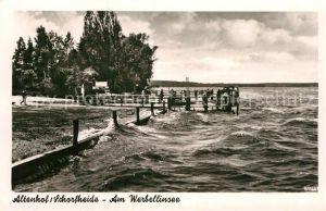 AK / Ansichtskarte Altenhof Schorfheide Am Werbellinsee Anlegestelle