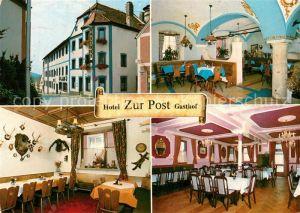 AK / Ansichtskarte Velburg Hotel Gasthof Zur Post Kat. Velburg