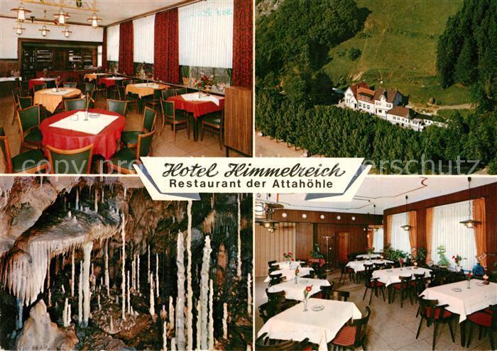 AK / Ansichtskarte Attendorn Hotel Himmelreich Restaurant Attahoehle Panorama Kat. Attendorn