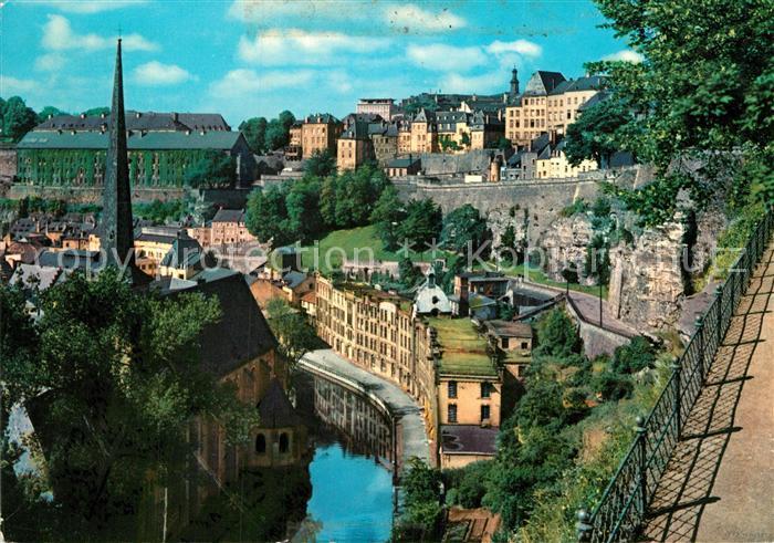 AK / Ansichtskarte Luxembourg Luxemburg Vallee de l Alzette Ville basse du Grund Kat. Luxembourg