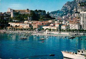 AK / Ansichtskarte Monaco Dominant le Port et la Piscine Rainier III Le Palais du Prince Kat. Monaco