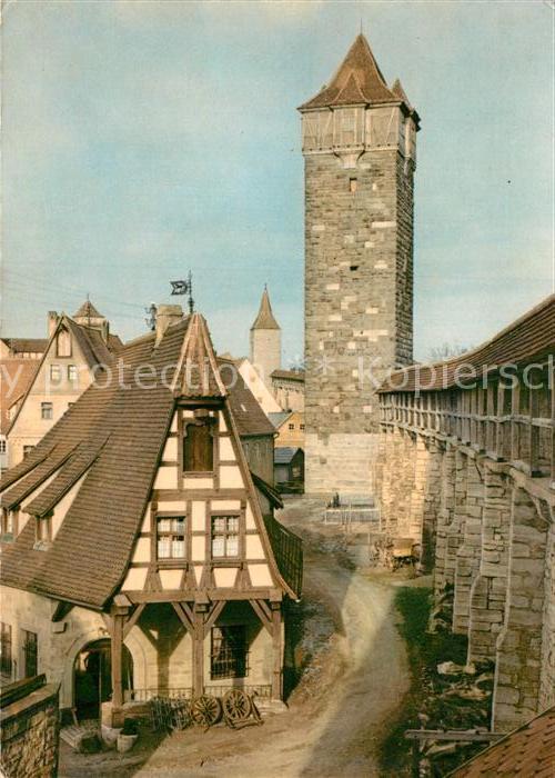 AK / Ansichtskarte Rothenburg Tauber Alte Schmiede und Roederturm Kat. Rothenburg ob der Tauber