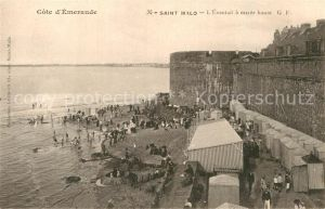 AK / Ansichtskarte Saint Malo Ille et Vilaine Bretagne Eventail a maree haute  Kat. Saint Malo
