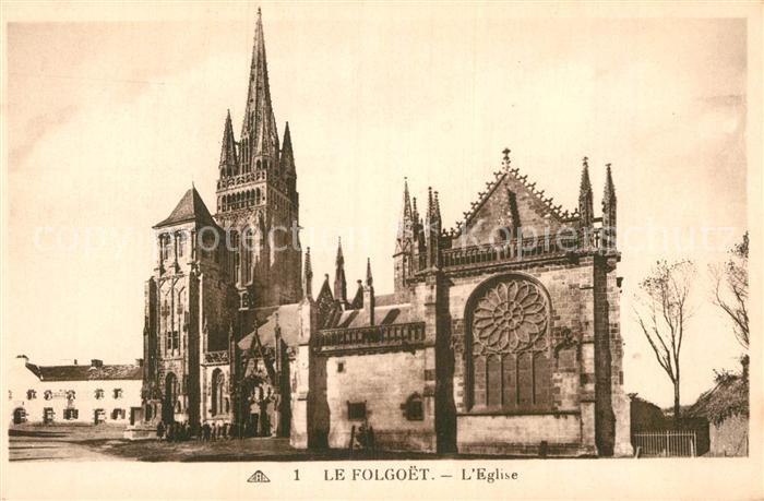 AK / Ansichtskarte Le Folgoet Eglise  Kat. Le Folgoet