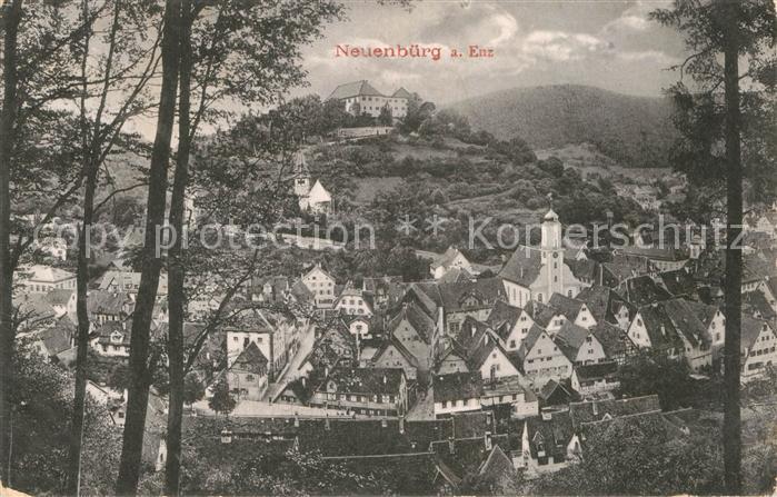 AK / Ansichtskarte Neuenbuerg Enz Gesamtansicht Kirche Burg  Kat. Neuenbuerg