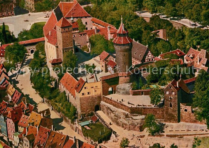 AK / Ansichtskarte Nuernberg Fliegeraufnahme Burg  Kat. Nuernberg