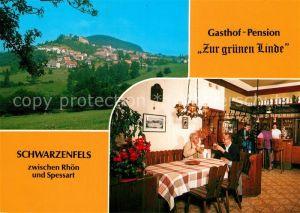 AK / Ansichtskarte Schwarzenfels Panorama Gasthof Pension Zur gruenen Linde Kat. Sinntal