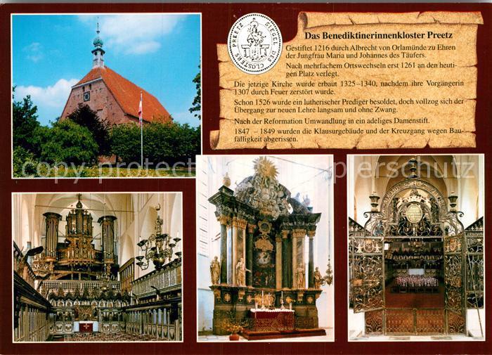 AK / Ansichtskarte Preetz Holstein Benediktinerinnenkloster Preetz Kirche Inneres Altar Kat. Preetz