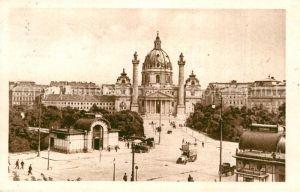 AK / Ansichtskarte Wien Karlsplatz mit Karlskirche Kat. Wien