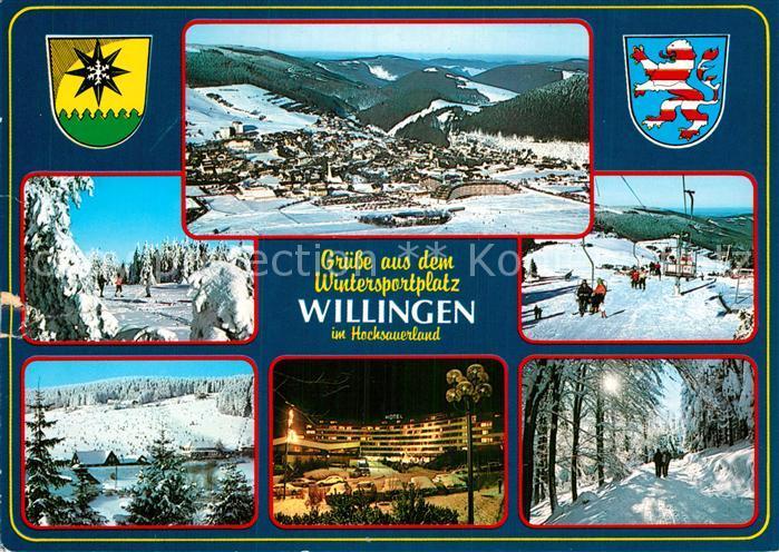 Ak Ansichtskarte Willingen Sauerland Wintersport Sessellift Kat