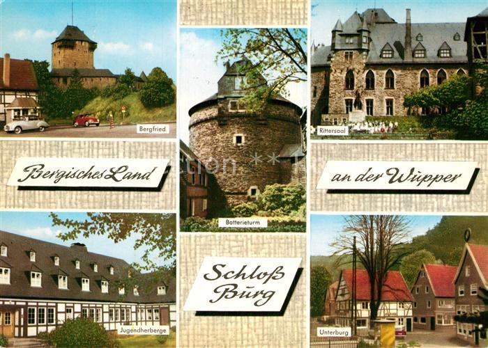 AK / Ansichtskarte Solingen Bergfried Rittersaal Batterieturm Jugendherberge Unterburg  Kat. Solingen