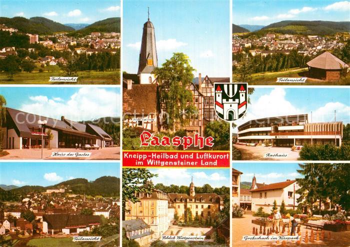 AK / Ansichtskarte Laasphe Bad Haus des Gartens Schloss Wittgenstein Schach im Kurpark Kat. Bad Laasphe