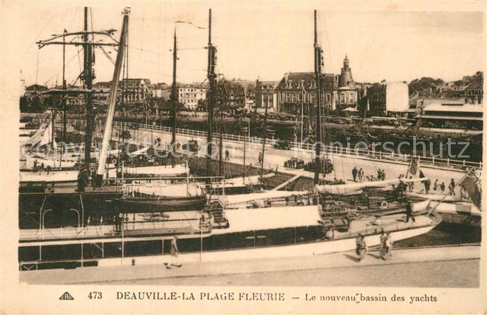AK / Ansichtskarte Deauville Plage Fleurie Nouveau Bassin des Yachts  Kat. Deauville
