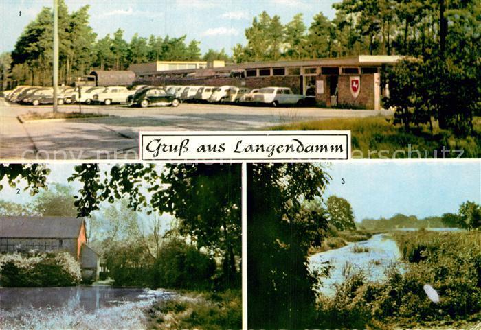 AK / Ansichtskarte Langendamm Friesland Eingangstor Kaserne Fuehrser Muehle Fuehrse Kat. Varel