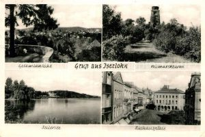 AK / Ansichtskarte Iserlohn Bismarckturm Gesamtansicht Seilersee Rathausplatz Kat. Iserlohn