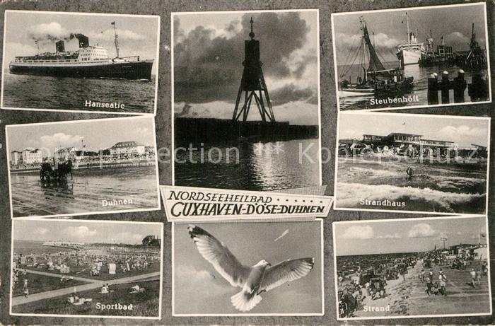 AK / Ansichtskarte Cuxhaven Duhnen Nordseebad Hanseatic Duhnen Sportbad Strand Steubenhoeft