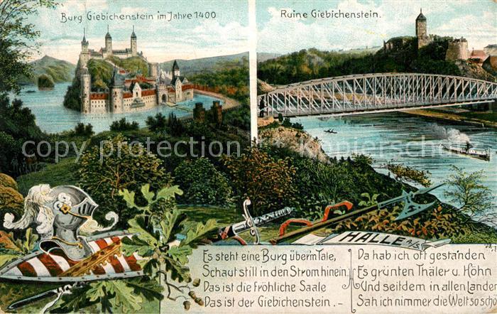 AK / Ansichtskarte Giebichenstein Halle Saale Burg Giebichenstein Kat. Halle