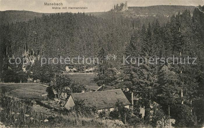 AK / Ansichtskarte Manebach Muehle Hermannstein Kat. Ilmenau