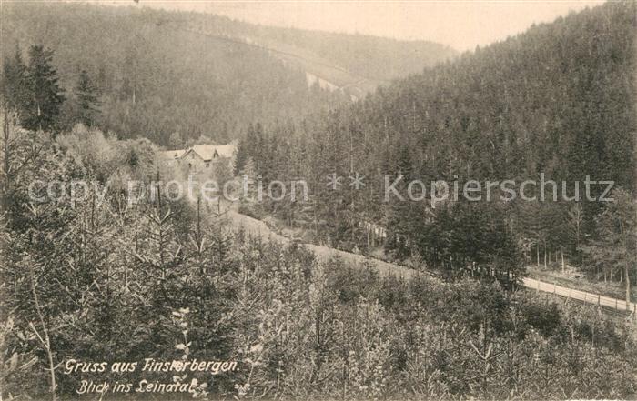 AK / Ansichtskarte Finsterbergen Blick ins Leinatal Kat. Finsterbergen Thueringer Wald