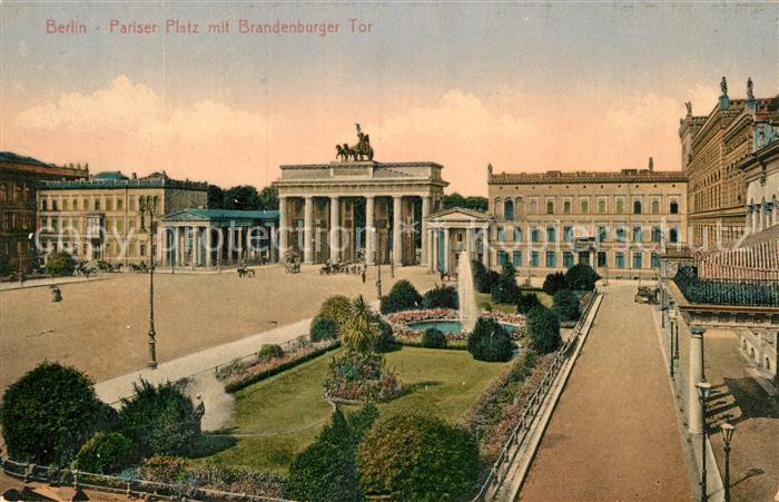 AK / Ansichtskarte Berlin Pariser Platz Brandenburger Tor  Kat. Berlin
