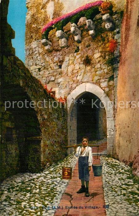 AK / Ansichtskarte Eze Alpes Maritimes Entree du Village