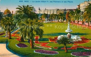 AK / Ansichtskarte Nice Alpes Maritimes Le Jardin Albert I ses Palmiers et ses Fleurs Kat. Nice