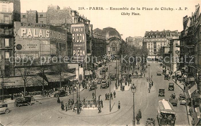 AK / Ansichtskarte Paris Ensemble de la Place de Clichy Kat. Paris