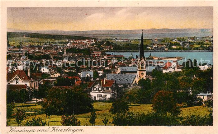AK / Ansichtskarte Konstanz Bodensee mit Kreuzlingen Kat. Konstanz