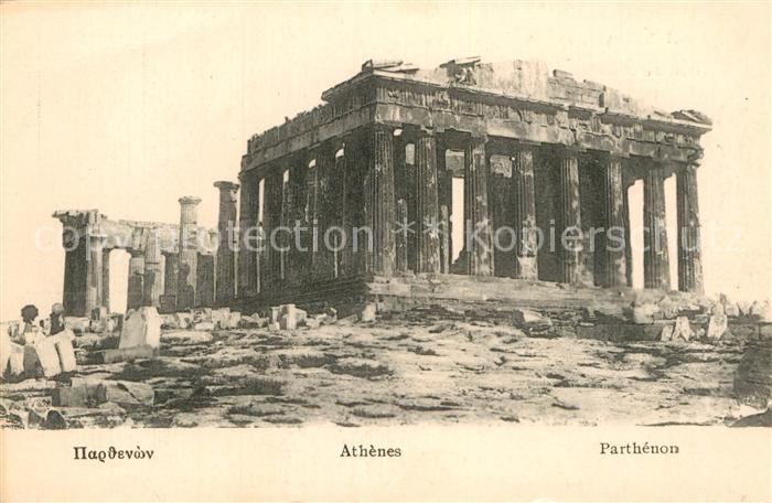 AK / Ansichtskarte Athenes Athen Parthenon Kat. Griechenland
