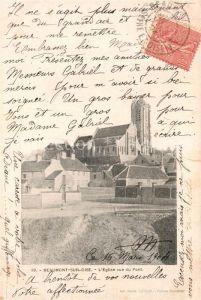 AK / Ansichtskarte Beaumont sur Oise Eglise vue du Pont Kat. Beaumont sur Oise