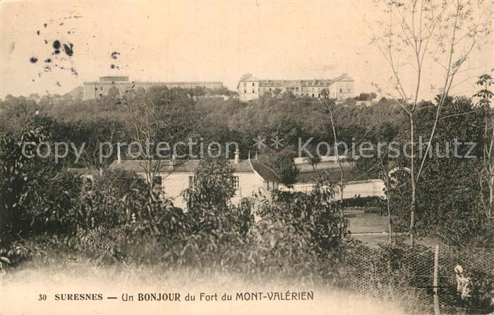 AK / Ansichtskarte Suresnes Fort du Mont Valerien Kat. Suresnes