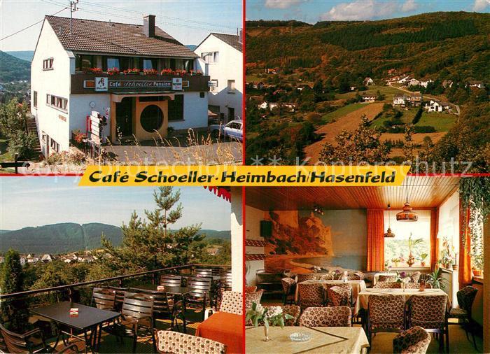 AK / Ansichtskarte Hasenfeld Cafe Schoeller Kat. Heimbach
