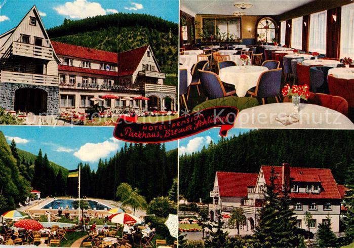 AK / Ansichtskarte Wildemann Hotel Pension Parkhaus Bremer Schluessel Kat. Wildemann Harz