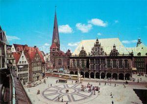 AK / Ansichtskarte Bremen Marktplatz mit Rathaus und Unser Lieben Frauenkirche Hansestadt Kat. Bremen