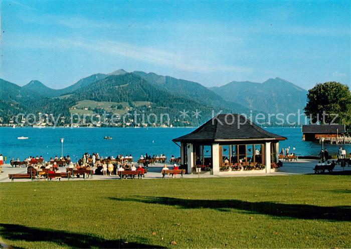AK / Ansichtskarte Bad Wiessee Kurpromenade mit Blick nach Tegernsee Kat. Bad Wiessee