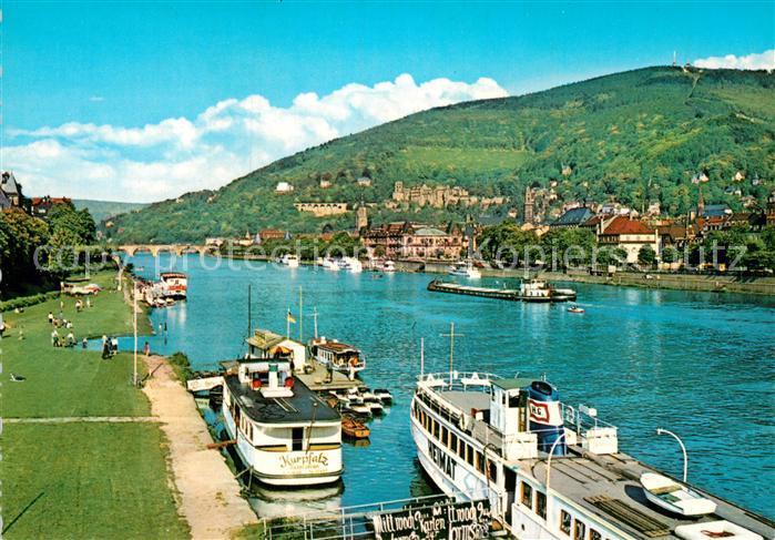 AK / Ansichtskarte Heidelberg Neckar Anlegestelle Persaonenschiff Heimat und Kurpfalz  Kat. Heidelberg