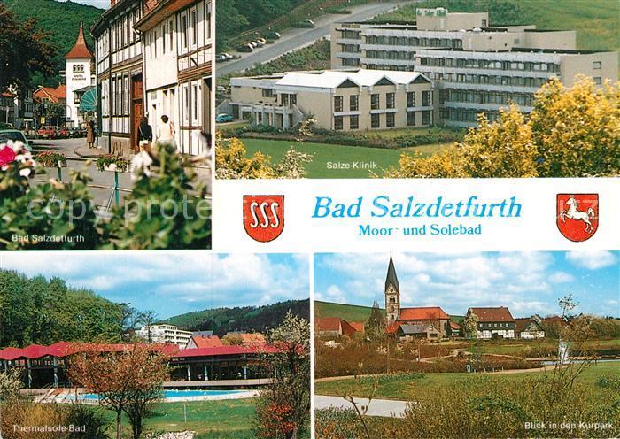 AK / Ansichtskarte Bad Salzdetfurth Salze Klinik Thermalsolebad Kurpark Kirche  Kat. Bad Salzdetfurth